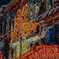 燃烧建筑底纹背景
