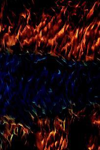 时尚冷暖火焰创意背景