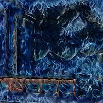 唯美蓝色火焰装饰背景