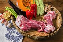 黑猪肉商业拍摄