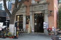 圣诞节上海新天地的酒吧餐厅