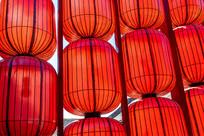 中国过去的红色纸灯笼