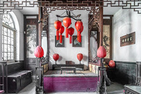 中国山西省乔家大院里的民居