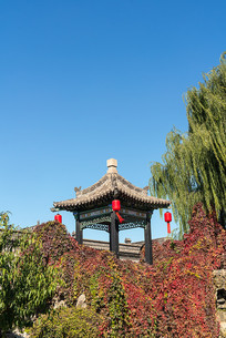 中国山西省乔家大院里的亭子