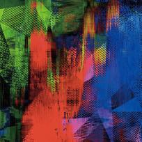 抽象画-红蓝绿的构成