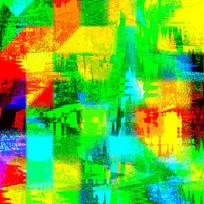 抽象画-梦的田园色彩