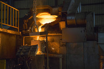 钢铁铸造生产车间