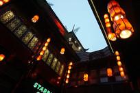 锦灯笼夜景摄影图