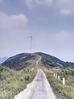 台山山坡乡村道路