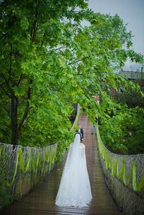万州情人桥婚纱照