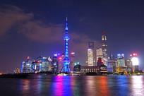 上海市浦东陆家嘴灯光夜景