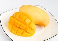 芒果切面特写