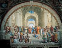 世界名画-雅典学院