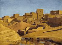 东方城堡油画