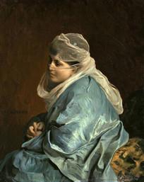 君士坦丁堡的女人油画