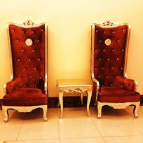 高背贵妃椅