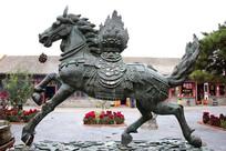 大昭寺马踏祥云青铜马雕像