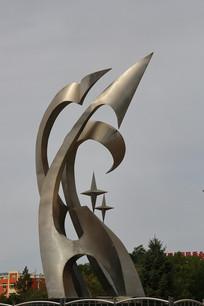 飞向星空雕像