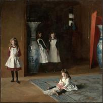 爱德华达利博伊特的女儿们油画
