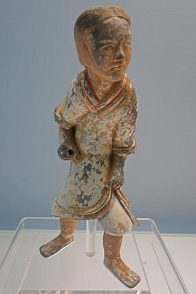 东汉彩绘陶俑