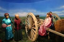 蒙古族放牧迁徙雕像