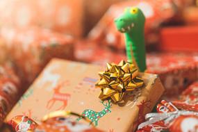 圣诞节礼物套装饰摄影