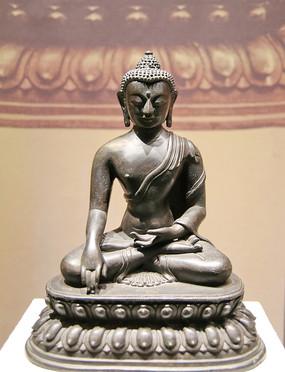 释迦牟尼铜像清代