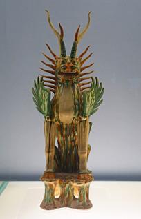 唐代彩色釉陶镇墓兽