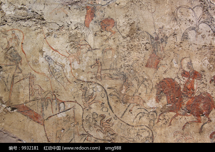北魏狩猎壁画图片