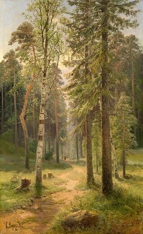 费奥多罗维奇油画 -林中小路
