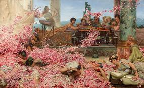 黑利阿迦八魯斯的玫瑰油画
