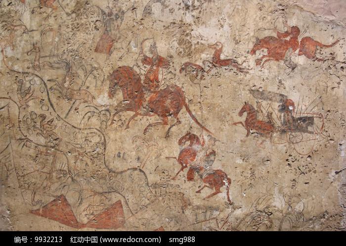 勒川狩猎壁画北魏图片