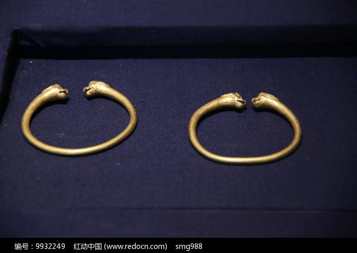 龙头金手镯汉代图片