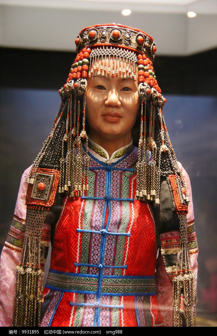 蒙古族民族服饰头饰图片