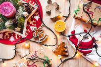 圣诞节装饰可爱玩具散乱
