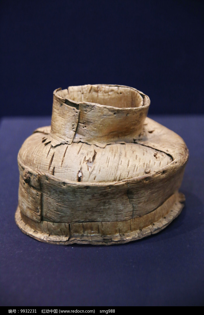 桦树皮罐汉代图片