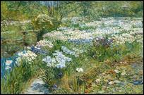 水上花园油画
