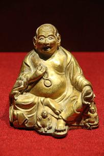 哈香尊者铜鎏金佛像西藏