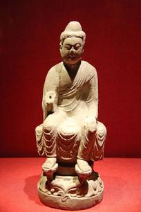 弥勒佛坐像石雕唐代