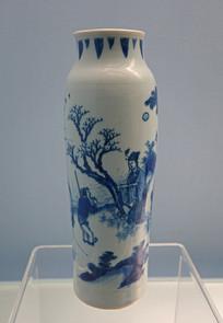 明代景德镇窑青花山水人物图瓶