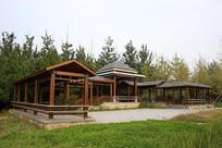日式木结构长廊
