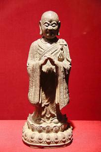 迦叶像明代铜佛像
