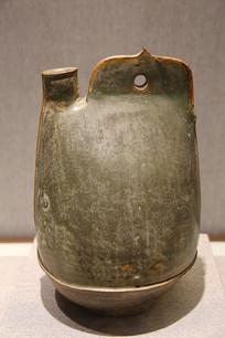 茶末釉单孔鸡冠壶