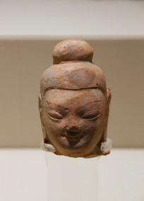 北魏时期泥塑佛头像