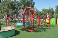 儿童乐园的小爬网
