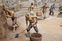 古代琉璃工厂挖土泥塑复原