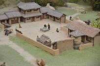 汉朝民居院落模型