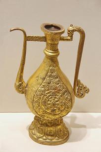 鎏金铜壶带流金壶