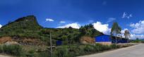 蓝天下的山