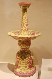 乾隆粉彩红龙五供瓷器